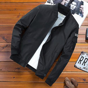 2018 Autumn Men Jacket Windbreaker Male Overcoat Casual Solid Jacket Slim Fiteticdress-eticdress