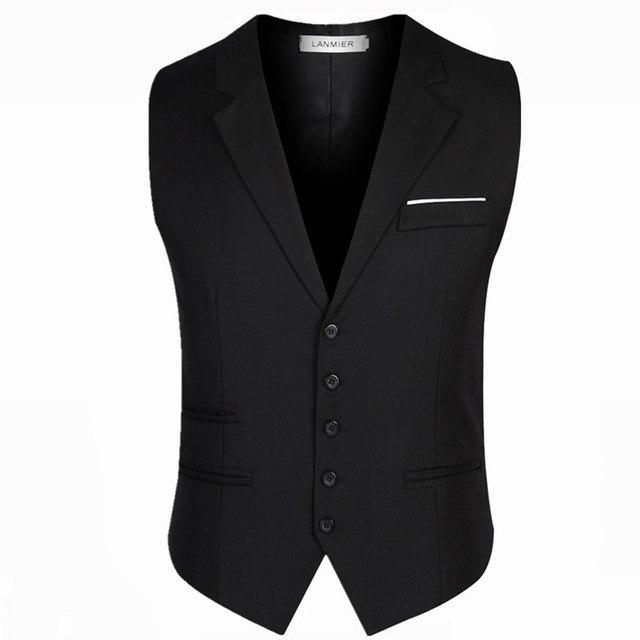 2018 New Arrival Men waistcoat Smart Casual Solid Vest for Young meneticdress-eticdress
