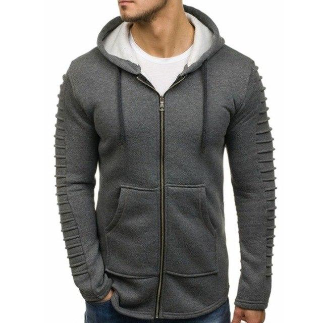 VERTVIE Men 3D Fashion Hoodies Brand New Striped Folds Sweatshirt Male Hoodyeticdress-eticdress