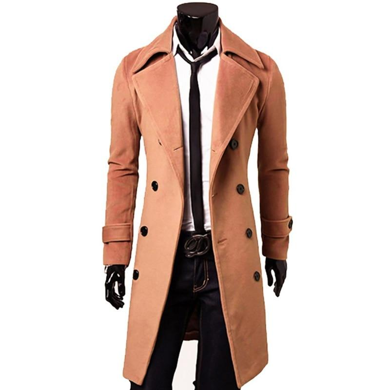 2018 New Arrivals Autumn Winter Trench Coat Men Brand Clothing Cooleticdress-eticdress