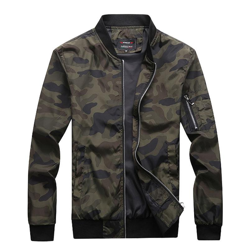 M-7XL 2018 New Autumn Men's Camouflage Jackets Male Coats Camo Bomber Jacketeticdress-eticdress