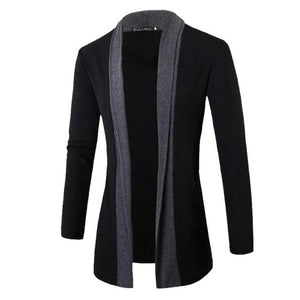2018 Autumn Jacket Men Warm Thick Coat Wool Long Sleeve Slim Lapeleticdress-eticdress
