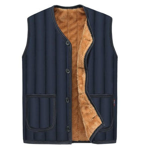 2018 Jacket Men Sleeveless Veste homme winter fleece waistcoat for men stripedeticdress-eticdress