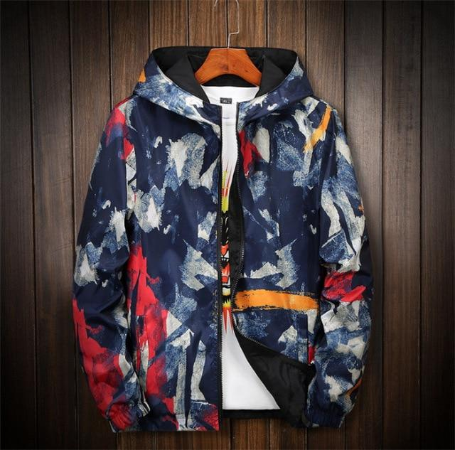 Men's Coat Printing Hooded Jacket Double jacket Plus Size S- 6XL 7XLeticdress-eticdress