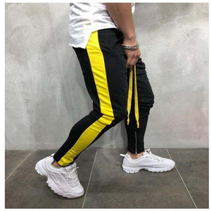 Men Pants New Fashion mens 2018 Side Strips Patchwork slacks Trousers Tracksuitseticdress-eticdress