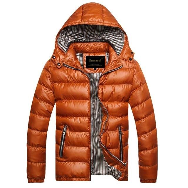 Dropshipping Autumn Winter Hooded Jacket Men Parka Quilted Padded Wadded Windbreaker Maleeticdress-eticdress