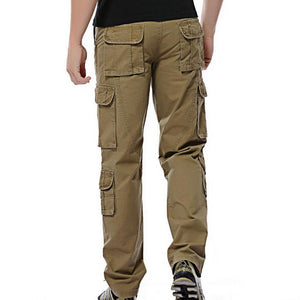 2018 Autumn mens cargo pants army tactical pants male Multi-pocket Outwear Straighteticdress-eticdress