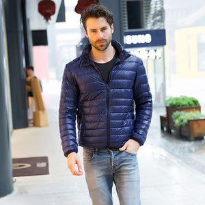 2018 New Mens Ultralight Jacket Casual Autumn Winter White Duck Down Windbreakereticdress-eticdress