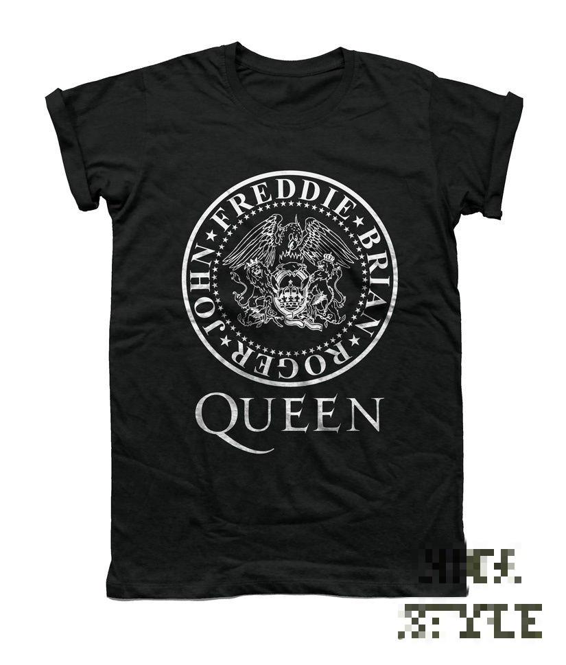 Queen Shirt Freddie Mercury T-shirt Music Vintage Rock UK Unisex Logo Topeticdress-eticdress