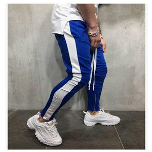 2018 Autumn New Men's Hip Hop Sweatpants Fitness Joggers Male Side Stripeeticdress-eticdress