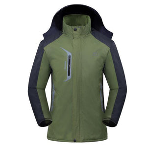 Men's Waterproof Parkas Wind-resistant Thicken Winter hooded Jacket Coats Male Fleece warmeticdress-eticdress