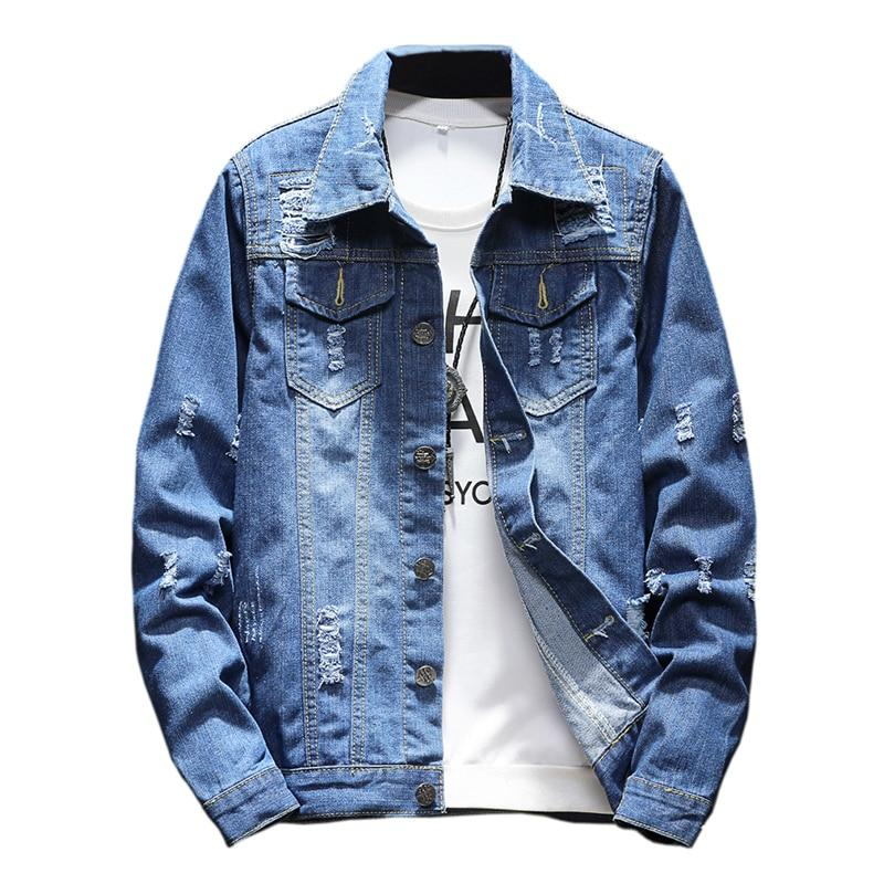 Brand 2018 M-5XL Men Jean Jacket Clothing Denim Jacket Fashion Mens Jeanseticdress-eticdress