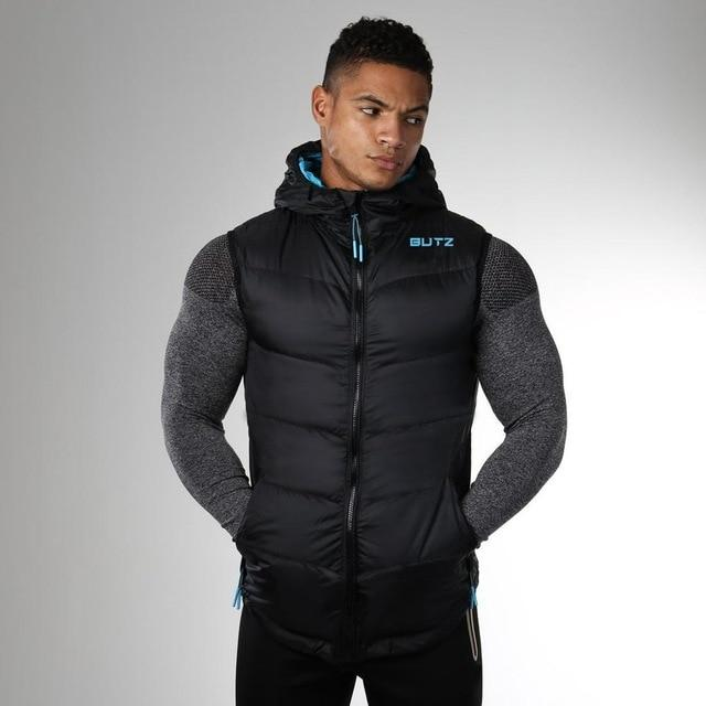 New Spring Autumn Sleeveless Jacket for Men Fashion Warm Hooded Male Wintereticdress-eticdress