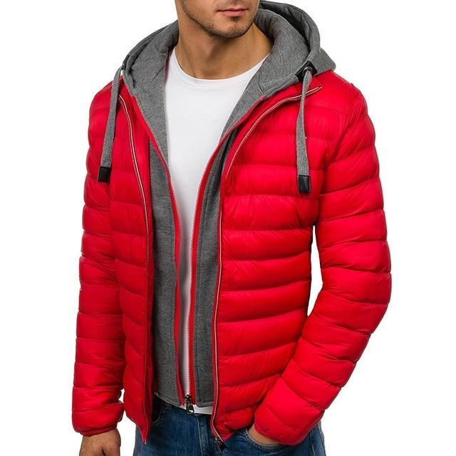 Winter Men's Cotton Hooded Coat Jacket 2018 Brand New Casual Meneticdress-eticdress