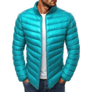 mens parkas colorful men winter jacket Casual puffer coat solid zippereticdress-eticdress