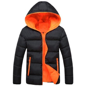 Fashion Stand Collar Male Parka Winter Jackets Mens Solid Thick Jacketseticdress-eticdress