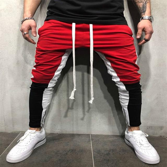 Fashion Men's Jogger Casual Pants Trendy Sportswear Workout Boys Patchwork zippereticdress-eticdress