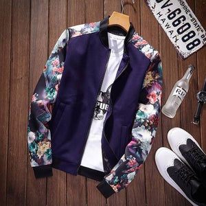 Thoshine Brand Spring Autumn Men Thin Printed Jackets Pockets Slim Fit Maleeticdress-eticdress