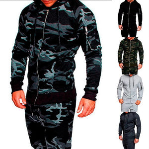Fashion Camo Slim Fit Jacket Men Casual Soild Jacket Male Camouflageeticdress-eticdress