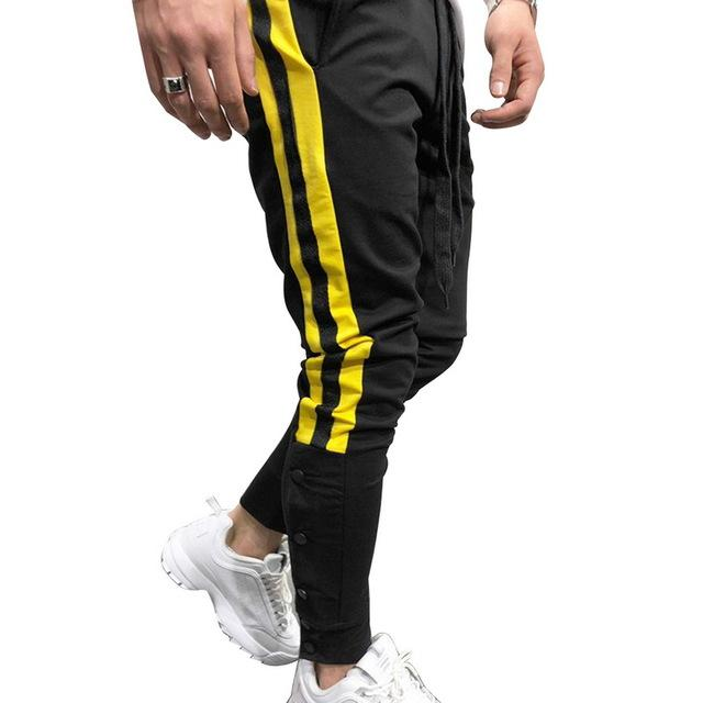 Hot Men's Sweatpants Side Stripe Hip Hop Track Pants Street Wear Skinnyeticdress-eticdress