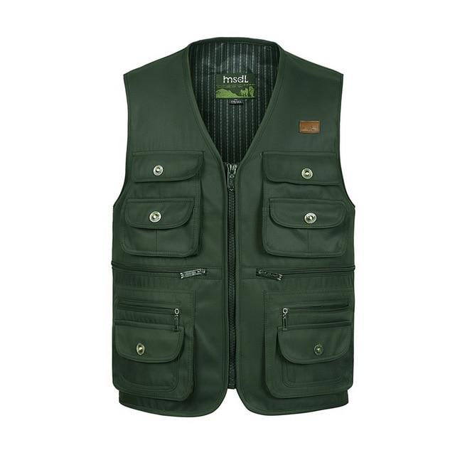 Male Summer Thin Multi Pocket Vest Photographer Outerwear Tool 3 Colors Sleevelesseticdress-eticdress