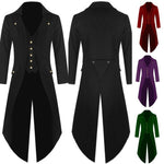2018 Retro Classic Men Coats SteamPunk Tuxedo Gentleman Jackets Black Male Partyeticdress-eticdress