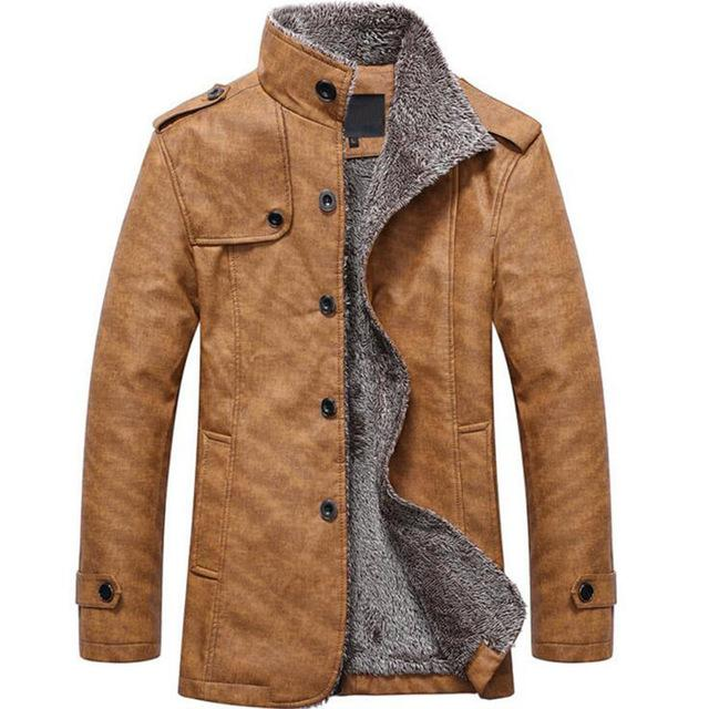Jacket Men Fashion utumn Winter Casual Button Outerwear & Coats Thermaleticdress-eticdress