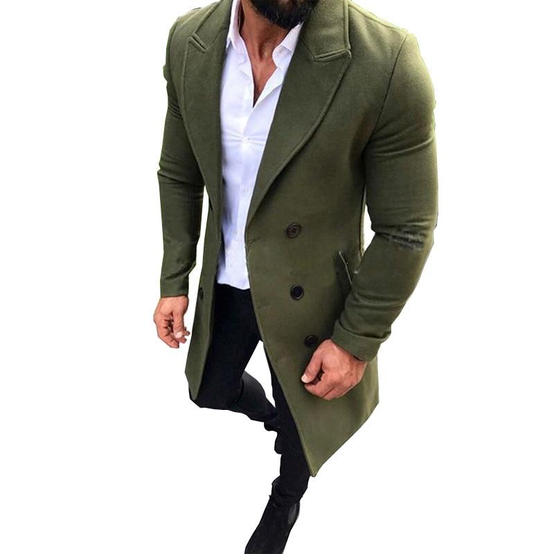 Mens Trench Coat 2018 New Fashion Designer Men Long Coat Autumn Wintereticdress-eticdress