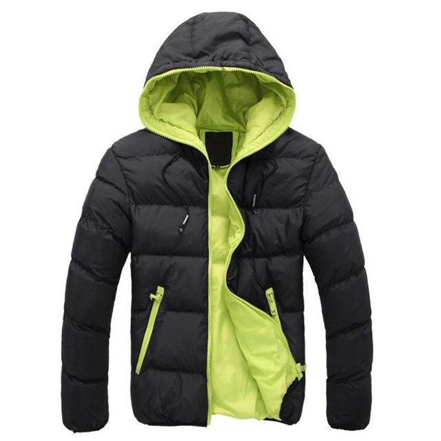 Warm Hooded Puffer Jacket Coat Parka for Man 2018 Autumn Winter Men'seticdress-eticdress