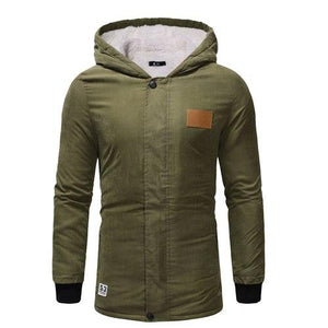 2018 Winter Jackets Mens Parka Mens Long Coats Army Green Erkek Monteticdress-eticdress