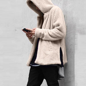 Feitong 2019 Coat Men Fashion Men's Autumn Winter Casual Loose Double-sided Plusheticdress-eticdress