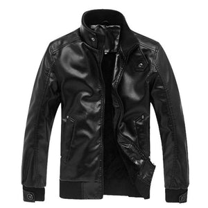 WENYUGH 2018 New Fashion Autumn Male Leather Jacket Plus Size 3XL Blacketicdress-eticdress