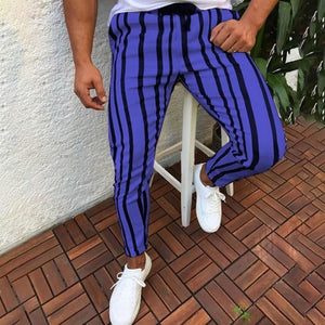 High Quality Men's Casual Striped Long Pants Harem Pants Fitness Workout Joggerseticdress-eticdress