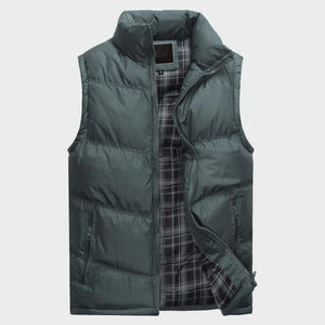 Men's Sleeveless Jacket New Fashion Thicken Cotton Vest Autumn Warm Vest Wintereticdress-eticdress