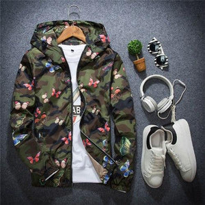 2018 Autumn Spring Outerwear jackets men casual Coats Slim fit men armyeticdress-eticdress