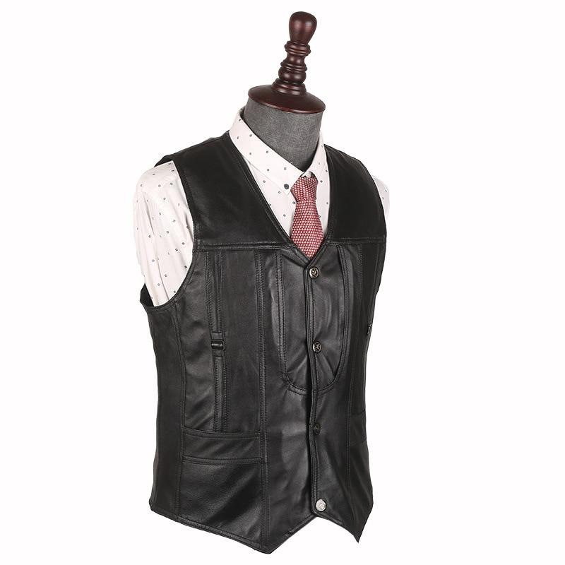 During the spring and autumn 2018 men leather vest Sheep leather vesteticdress-eticdress