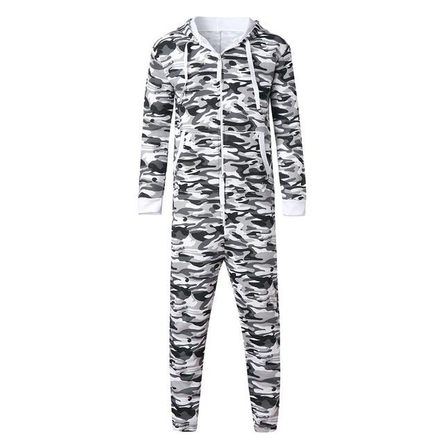 Men's Unisex Jumpsuit One-piece garment Non Footed Pajama Playsuit Blouse Hoodie Adulteticdress-eticdress