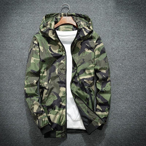 2018 Camouflage Jacket Men Fashion Holiday Camo Hooded Windbreaker Coateticdress-eticdress
