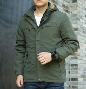 New winter and autumn adding fleece jacket men's outdoor military windeticdress-eticdress