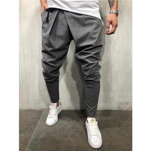 2018 new Style Fashion Solid Men's Track Pants Slim Cuff Trouserseticdress-eticdress