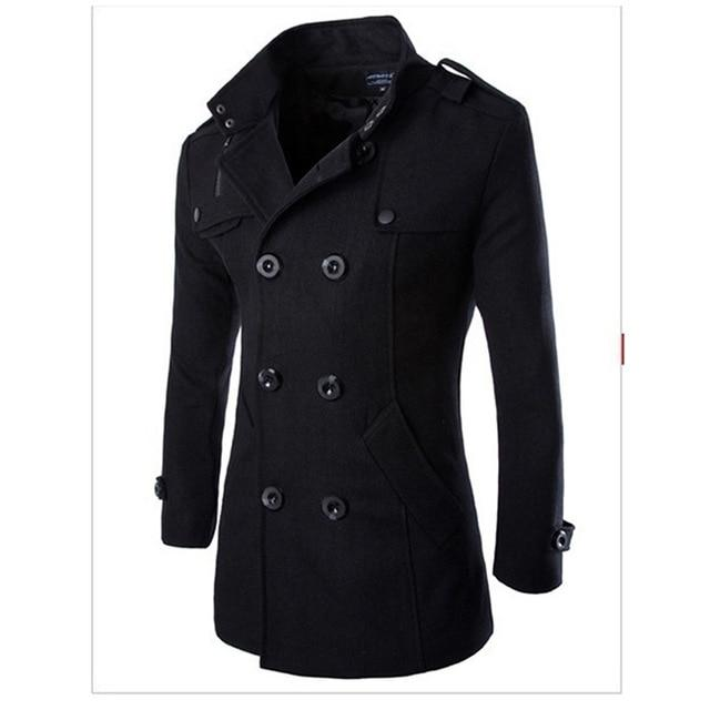 3XL Mens Autumn Winter Warm Wool Blends Male Fashion Casual Woolen Jacketeticdress-eticdress