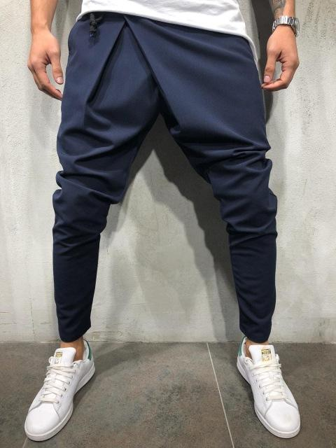 NEW Men Track Pants Cuff Trousers Skinny Slim Fit Straighteticdress-eticdress