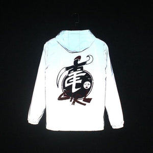 Men windbreaker 3M reflective jacket Man Gothic Dragon Ball fluorescent Sportswear hipeticdress-eticdress