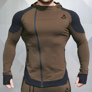 Gyms Bodybuilding Men Jackets Fitness Joggers Sporting Wear Hooded Jackets Workout Slimeticdress-eticdress