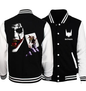 Bomber Jacket Superman Series Batman 2 Joker Streetwear Baseball Men's Jackets 2019eticdress-eticdress