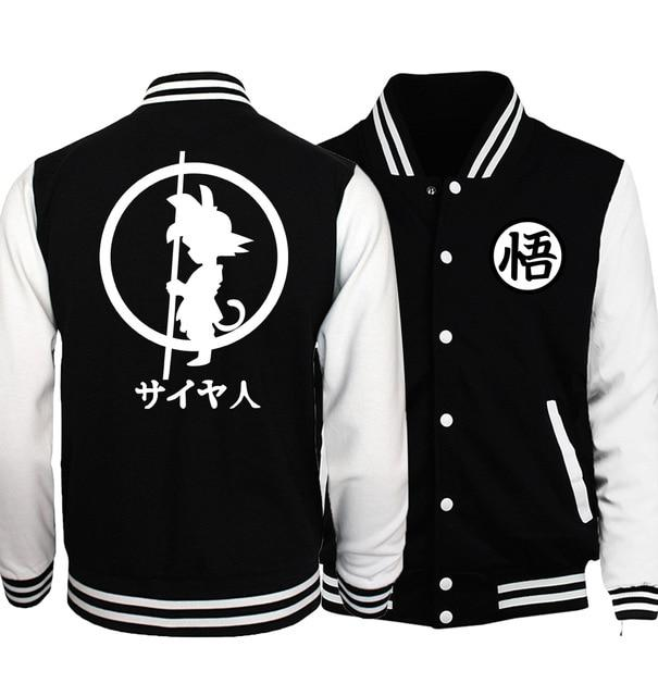Japanese Anime Dragon Ball Z Baseball Uniform Jackets Men 2019 Springeticdress-eticdress