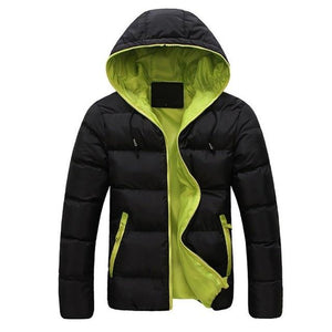 Men's Winter Warm Hooded Outwear Slim Casual Coat Cotton-padded Jacket Parka Overcoateticdress-eticdress