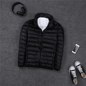 2018 autumn winter ultra thin lightweight down jacket men stand collar whiteeticdress-eticdress