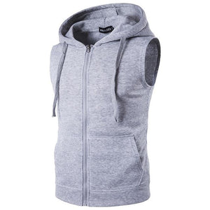 Hooded Vest 2018 New Spring Men's Hooded Zipper With Pocket Male Sweateticdress-eticdress