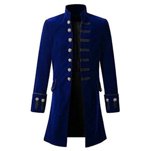 New Mens Vintage Jackets Single Breasted Jackets Coat Stand Collar Solideticdress-eticdress
